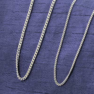 Sterling Silver Curb Link Necklace Chain