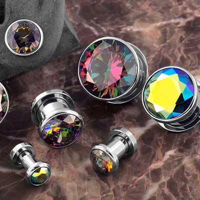 Iridescent Gem Plugs
