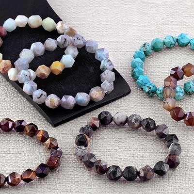 Faceted Stone Bracelet