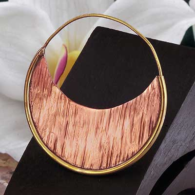 Brass and Copper Radiant Hoops