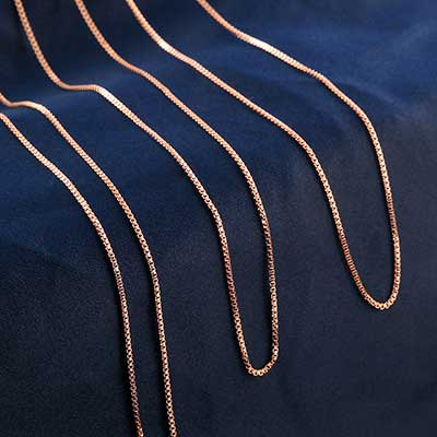 Rose Gold Box Necklace Chain