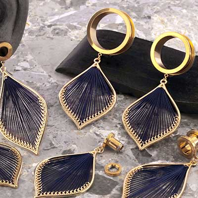 Dangling Woven Feather Eyelets