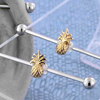 Tropical Pineapple Industrial Barbell