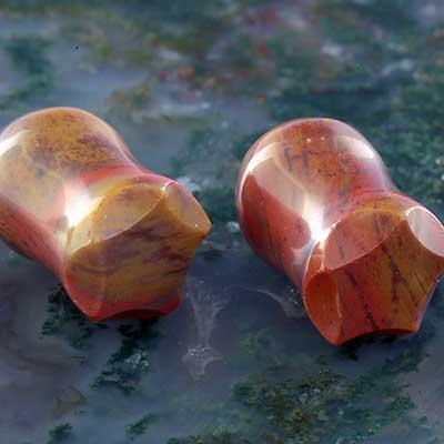 Crowned Red Jasper Plugs