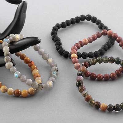Round Stone Bead Bracelet
