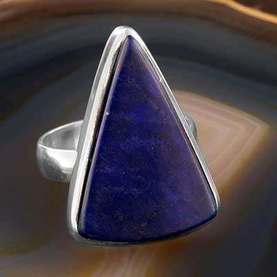 Triangle Lapis Ring