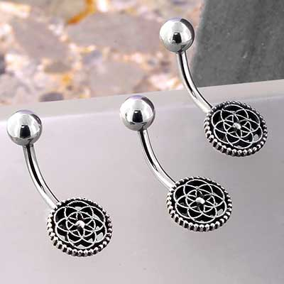 Sterling Silver Seed of Life Navel