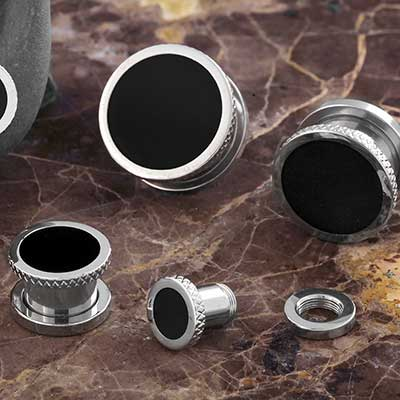Screw Back Eclipse Steel Plugs