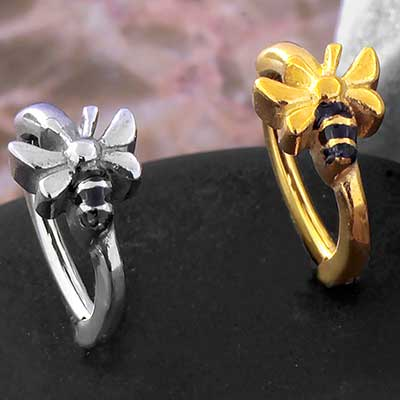 Bumble Bee Side Set Clicker Ring