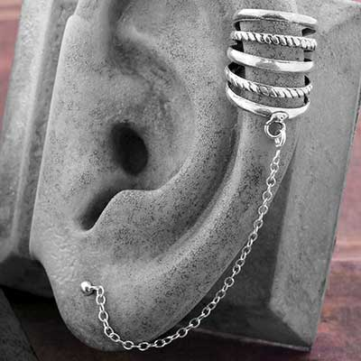 Banded Ear Cuff and Chain