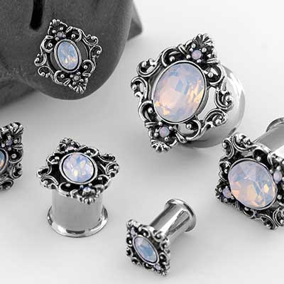 Ornamental Opalite Plugs