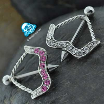 Cupid bow nipple design