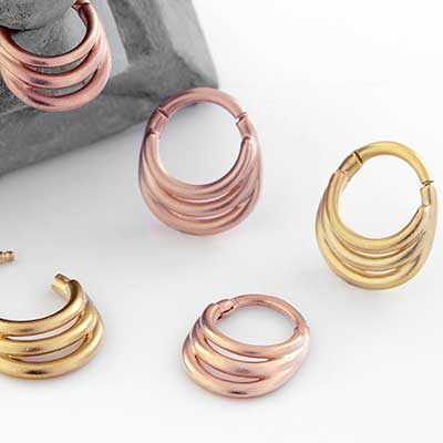 Triple Threat Septum Clicker Ring