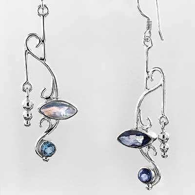 Silver Nouveau Earrings