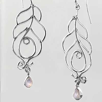 Spring Leaf Dangle Earrings