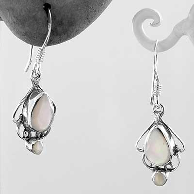 Teardrop Mother of Pearl Dangle Earrings