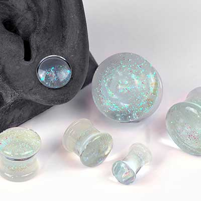 Luminescent Zephyr Glass Plugs