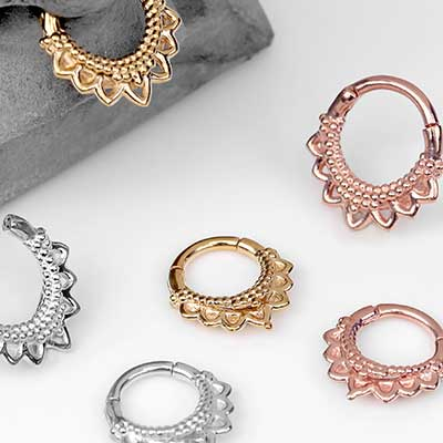 Temple Septum Clicker Ring