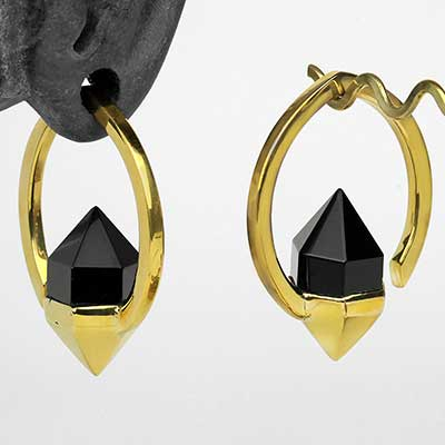 Brass Mystic Weights with Black Obsidian