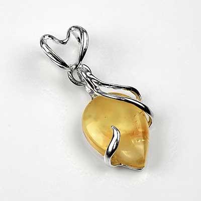 Dripping Honey Amber Pendant