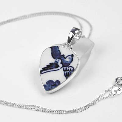 Ceramic Swallow Necklace