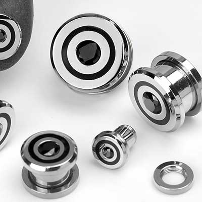 Steel Bulls-Eye Plugs