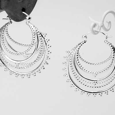 Beaded Warrior Hoop Earrings