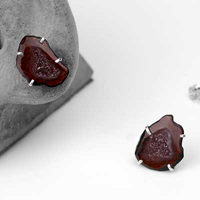 Geode Slice Stud Earrings