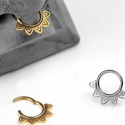 Filigree Lace Septum Clicker