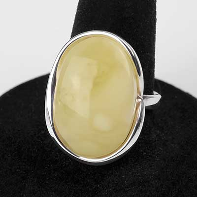Oval Butterscotch Amber Ring