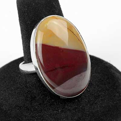 Silver and Mookaite Ring