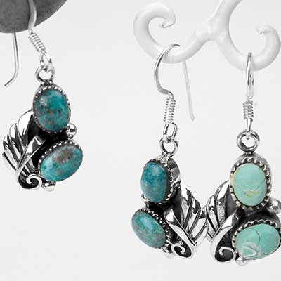 Winged Turquoise Earrings