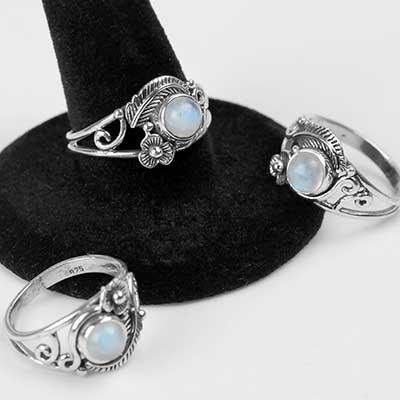 Garden of Eden Rainbow Moonstone Ring