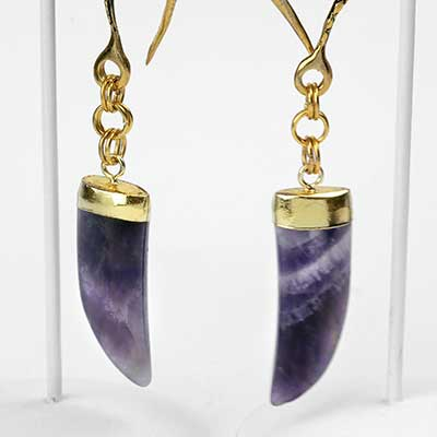 Brass and Amethyst Claw Weights
