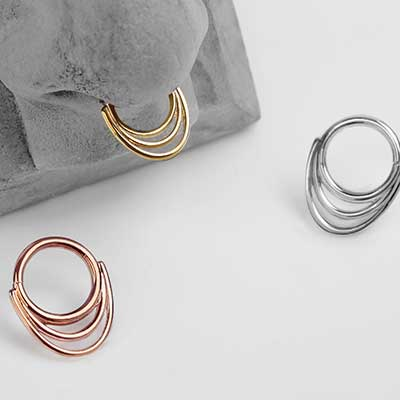 14K Gold Saturn Seamless Rings