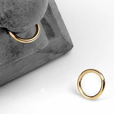 14K Gold Clicker Rings