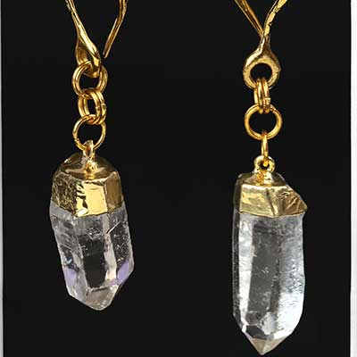 Brass and Crystal Quartz Weights