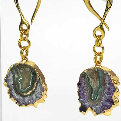 Solid Brass and Amethyst Stalactite Weights