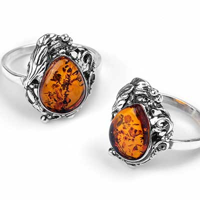 Rococo Amber Ring
