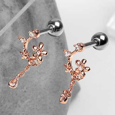 Rose Gold Enchanted Vine Barbell