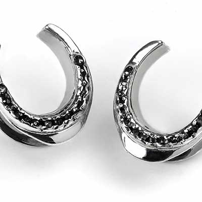 Silver Saddles with Channel Set Diamonds