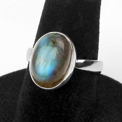 Adjustable Blue Labradorite Ring