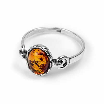 Chained Amber Ring