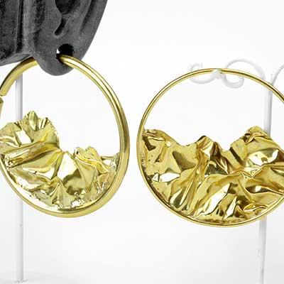 Brass Crush Hoops