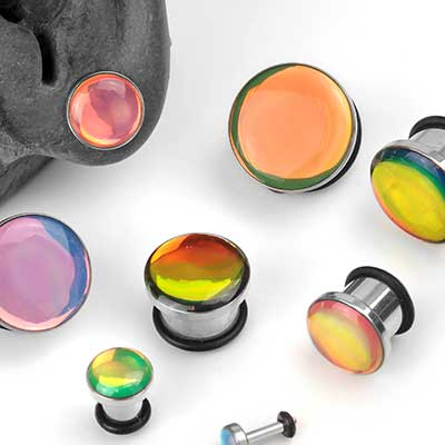 Single Flare Steel Hologram Plugs