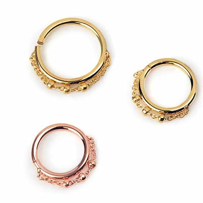 Trio Bead Seamless Ring