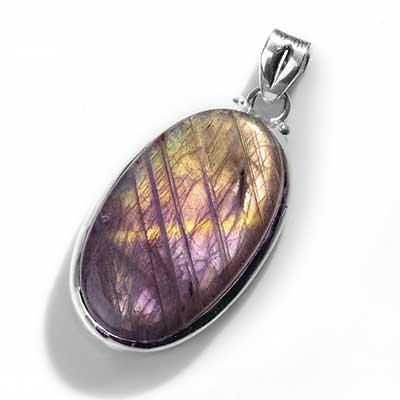 Purple Labradorite Pendant