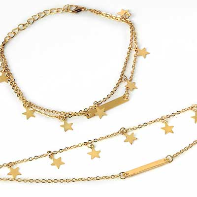 Dual Chain Star Anklet