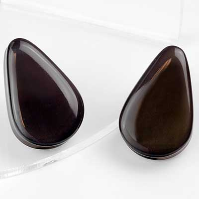 Rainbow Obsidian Teardrop Plugs