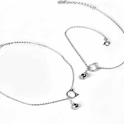 Kitten Bell Dangle Anklet